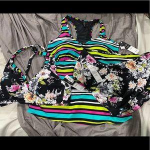 New Torrid size 1x 3 pc torrid bikini tankini set